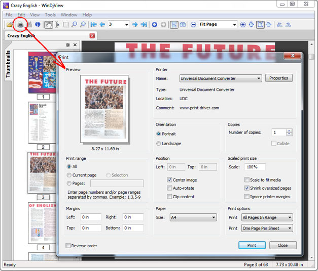 convert tiff document to pdf
